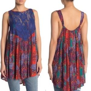 Free People Count Me In Trapeze Tank Top In Red